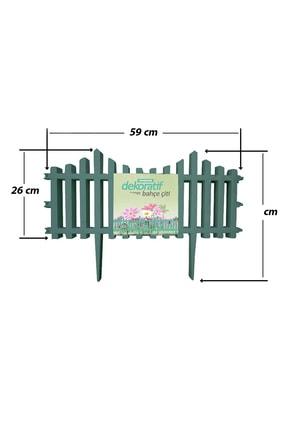 Taşmatik Dekoratif Bahçe Çiti Plastik Yeşil Çit 59 Cm Tek Peyzaj Çiti Çiçek Koruma Çiti 2