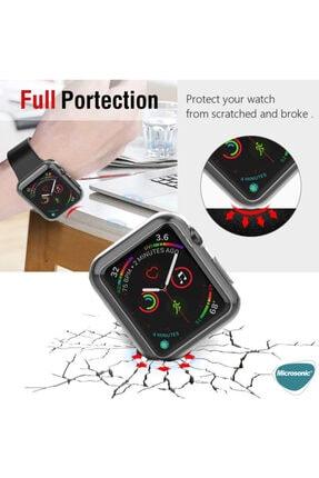 Apple Şeffaf Microsonic Watch Se 44mm 360 Uyumlu Full Round Soft Silicone  Kılıf 4