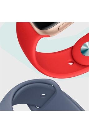 Apple Watch Series 6 44mm Uyumlu Silikon Kordon Lacivert 3