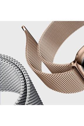Apple Microsonic Watch Series 6 44mm Milanese Loop Kordon Siyah 1