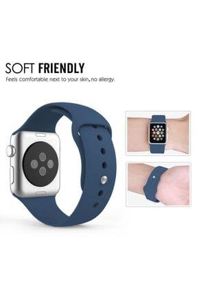 Apple Lacivert Microsonic Watch Series Silikon Kordon  3 38mm 2