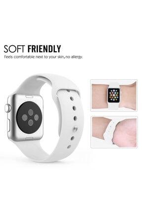 Apple Microsonic Watch Series 3 38mm Silikon Beyaz Kordon 2