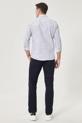 Altınyıldız Classics Erkek Lacivert Kanvas Slim Fit Dar Kesim %100 Koton 5 Cep Pantolon 4