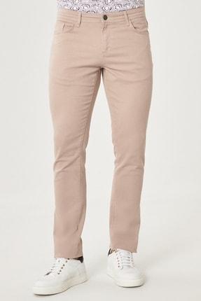 Altınyıldız Classics Erkek Bej Kanvas Slim Fit Dar Kesim 5 Cep Pantolon 0