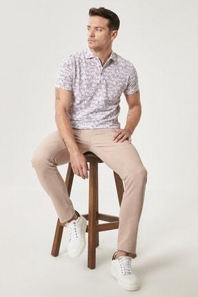 Altınyıldız Classics Erkek Bej Kanvas Slim Fit Dar Kesim 5 Cep Pantolon 1