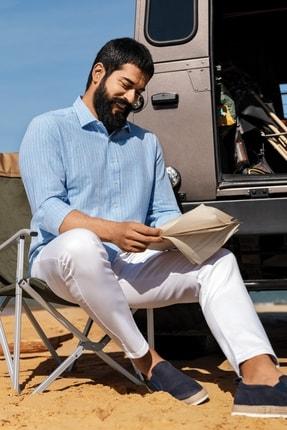 Altınyıldız Classics Erkek Açık Mavi Tailored Slim Fit Klasik Gömlek Yaka %100 Koton Gömlek 0