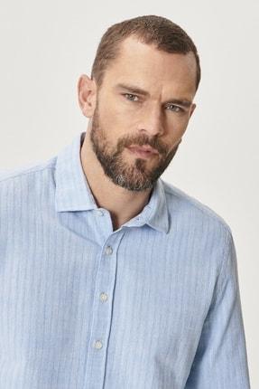 Altınyıldız Classics Erkek Açık Mavi Tailored Slim Fit Klasik Gömlek Yaka %100 Koton Gömlek 3