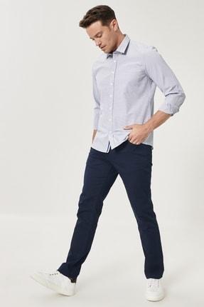 Altınyıldız Classics Erkek Lacivert Kanvas Slim Fit Dar Kesim 5 Cep Pantolon 2