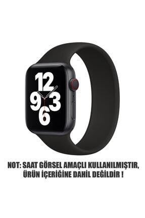Apple Microsonic Watch Series 6 40mm Kordon, (medium Size, 145mm) New Solo Loop Siyah 1