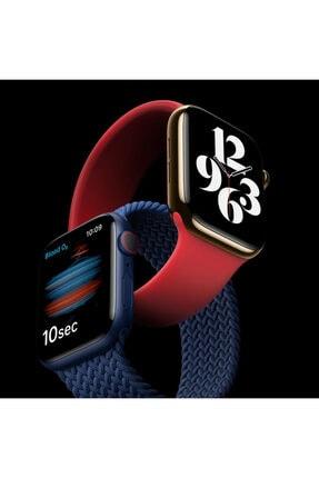 Apple Microsonic Watch Series 6 40mm Kordon, (medium Size, 145mm) New Solo Loop Siyah 4