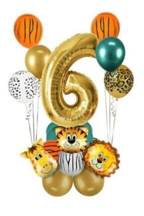 BeySüS 6 Yaş Gold Safari Temalı Balon Seti 0