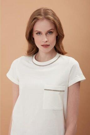 REGİNO Kadın Mılla Ekru   T-Shirt 0