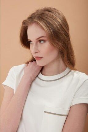 REGİNO Kadın Mılla Ekru   T-Shirt 1