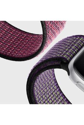 Apple Microsonic Watch Series 6 44mm Hasırlı Kordon Woven Sport Loop Lacivert 4