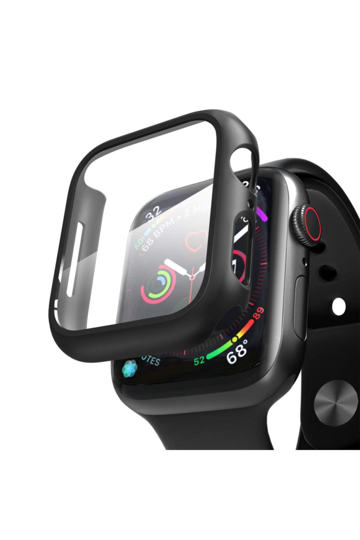 Microsonic Watch Series 4 40mm Kılıf Matte Premium Slim Watchband Siyah
