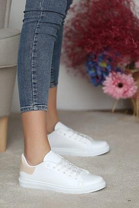 Pembe Potin Kadın Beyaz Nut Ayakkabı 2