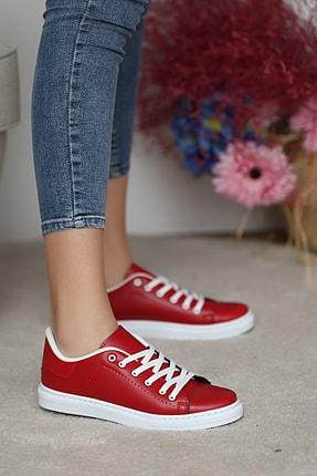 Pembe Potin Kadın Kırmızı Ayakkabı 1