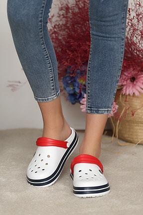 Pembe Potin Unisex Beyazlacivert Sandalet 2
