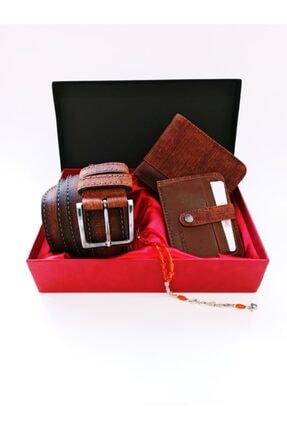 Cüzdan Kemer Kartlık Hediye Kutusu Taba - 01d DE1100