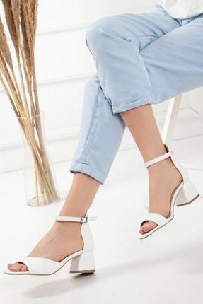 Kadın Beyaz Tek Bant Yazlık Ayakkabı tekbant--hotiç