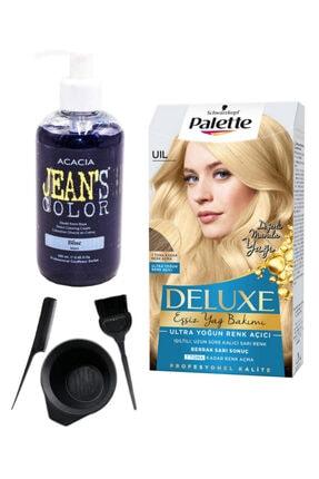 Palette Deluxe Uıl Ultra Yoğun Renk Açıcı Ve Acacia Mavi Saç Boya Seti 0