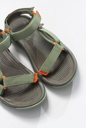 LuviShoes Kadın Haki Tekstil  Sandalet 1
