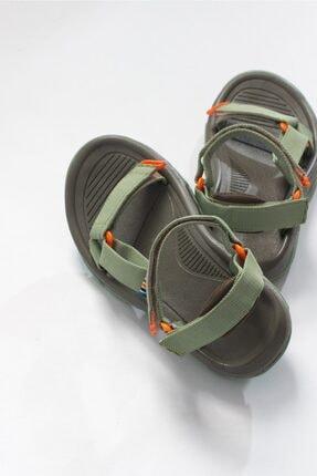 LuviShoes Kadın Haki Tekstil  Sandalet 4