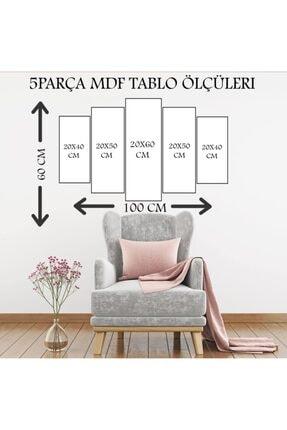 Evimona Evi Mona 5 Parça Mdf Tablo - 5MDF-0313 2