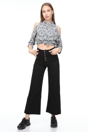 Sismo Butik Yüksek Bel Wide Leg Jeans 2