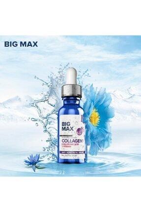 BİG MAX Kolajen C Vitamini Hyaluronik Asit Aydınlatıcı Ve Kırışıklık Karşıtı Yüz Serumu 30 ml 2