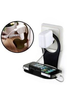Hobi Demir&Sanat Metal Mobil Şarj Priz Askısı Ve Telefon Tablet Standı Telefon Tutacagı Şarj Priz Askısı 1