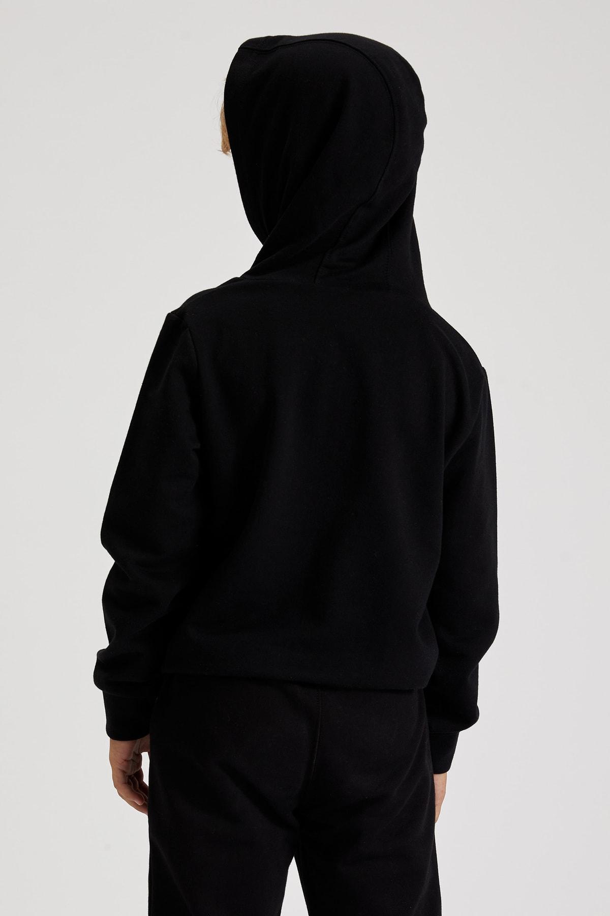 Defacto Erkek Çocuk Siyah Nba Lisanslı Sweatshirt 1