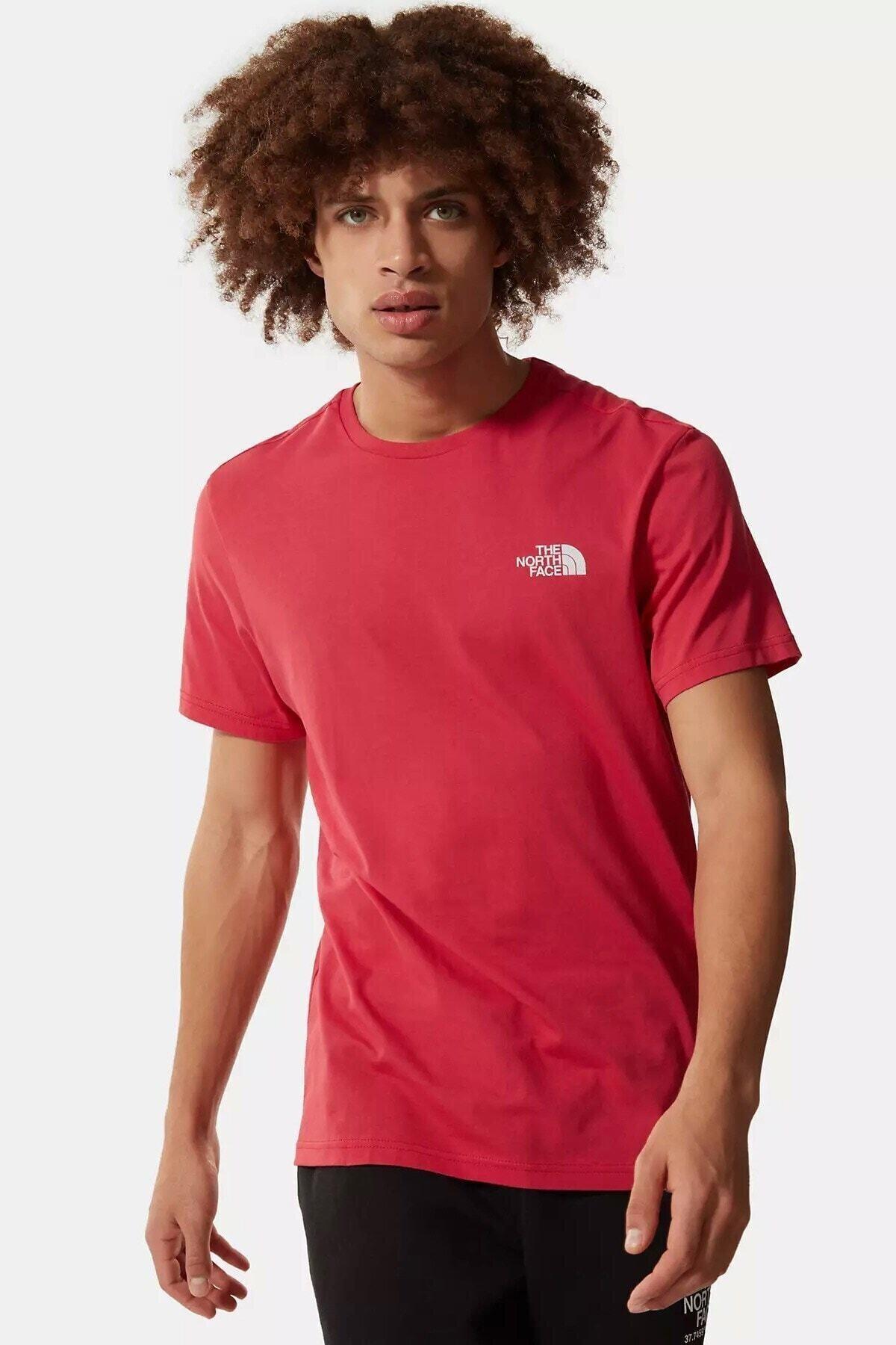 Erkek Kırmızı Sımple Tişört