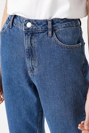 Koton Kadın Orta İndigo Jeans 1YAK47979MD 4