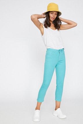 Koton Kadın Yeşil Cep Detayli Pantolon 9YAL41331MW 2