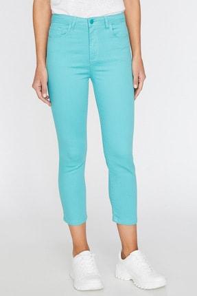 Koton Kadın Yeşil Cep Detayli Pantolon 9YAL41331MW 3