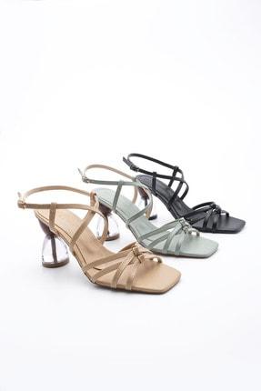 Picture of Bej Kadın Şeffaf Topuklu Ayakkabı