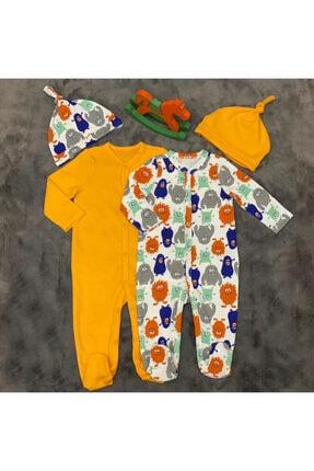 PİEROSBABY Pieros Baby 0072 Erkek Bebek 2'li Tulum Şapkalı 0