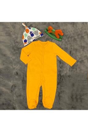PİEROSBABY Pieros Baby 0072 Erkek Bebek 2'li Tulum Şapkalı 2