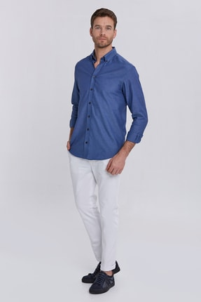 Hemington Erkek Kanvas Beyaz Chino Pantolon 1