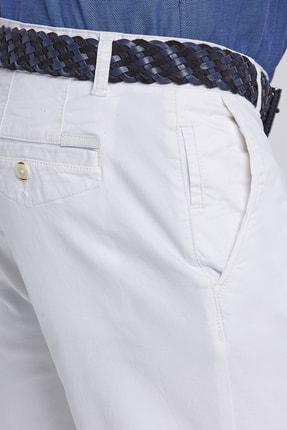 Hemington Erkek Kanvas Beyaz Chino Pantolon 4