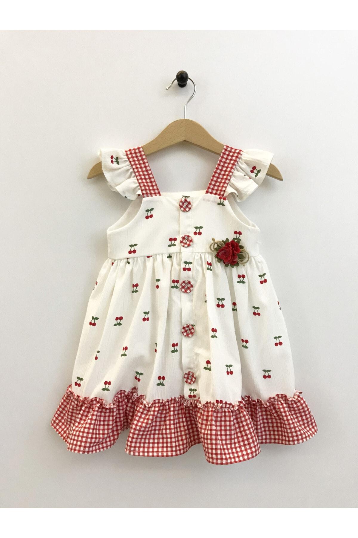 Kirazlı Çocuk Elbise