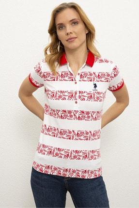 US Polo Assn Kırmızı Kadın T-Shirt 0