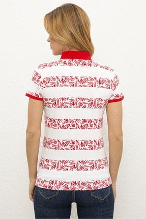 US Polo Assn Kırmızı Kadın T-Shirt 2