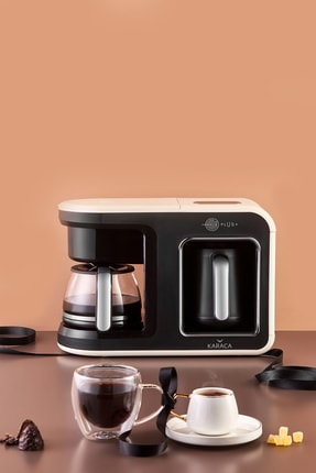 Karaca Hatır Plus 2 in 1 Krem Kahve Makinesi 0