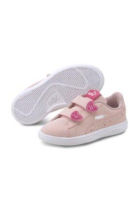 Puma SMASH V2 CNDY V PS Pembe Kız Çocuk Sneaker Ayakkabı 101119308 0