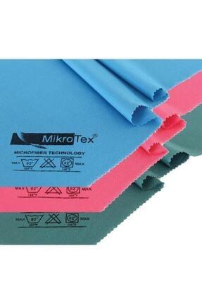 Mikrotex (3 Adet) Mikrofiber Cam Bezi Ve Temizlik Bezi 40x50 Cm. Mavi - Pembe - Yeşil 1