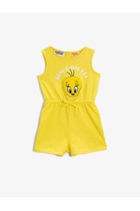 Koton Kız Bebek Pamuklu Tweety Elbise 0