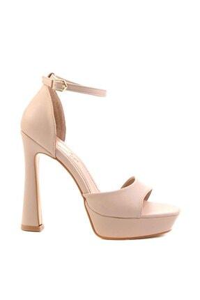 Bambi Nude Kadın Abiye Ayakkabı K01925010009 1