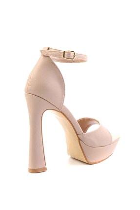 Bambi Nude Kadın Abiye Ayakkabı K01925010009 3